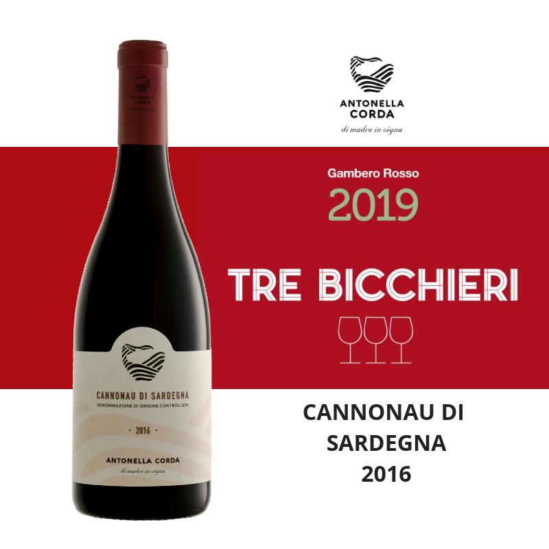 Tre bicchieri Cannonau 2016 - Antonella Corda